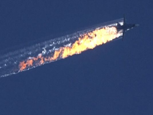 Russian Warplane Shot Down By Turkey