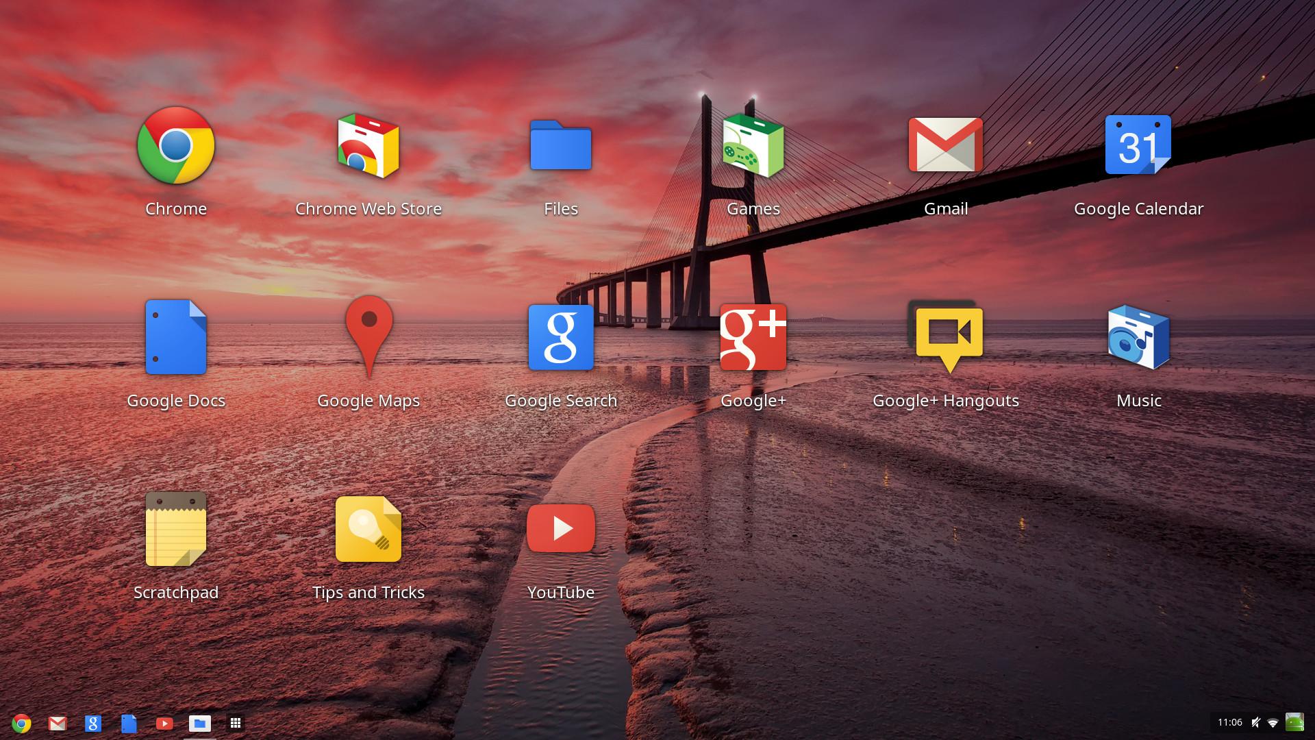 chrome os launchpad desktop screenshot