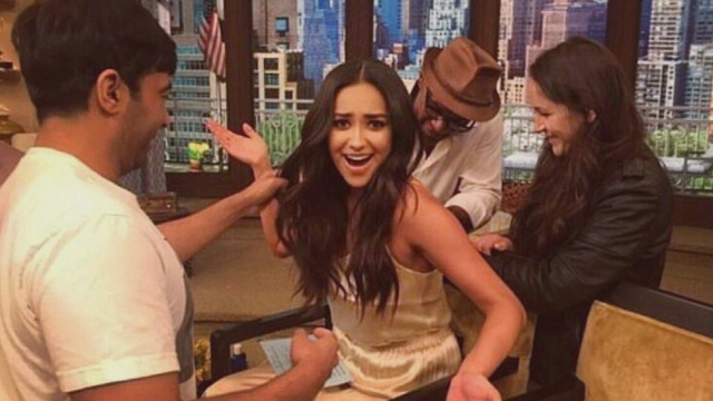 Shay Mitchell Experiences Wardrobe Malfunction