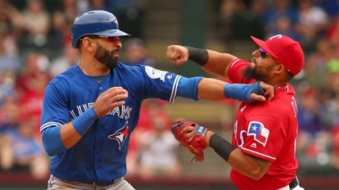 Brawl Erupts After Jose Bautista Downed By Rougned Odor Punch