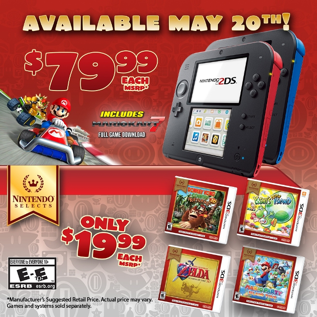 Price Of Nintendo 2DS Reduced