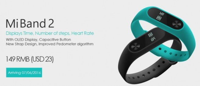 Xiaomi Mi Band 2 Fitness tracker Unveiled